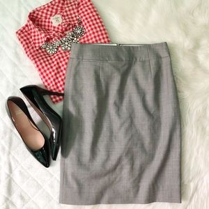 J. Crew gray pencil skirt Super 120's